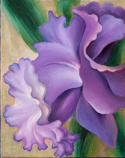 Lucy Y F Chen, 'Purple Daffodil'