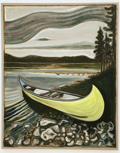 Billy Childish, 'Yellow Canoe', 2017