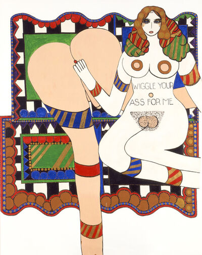 Dorothy Iannone, 'Wiggle Your Ass For Me', 1970