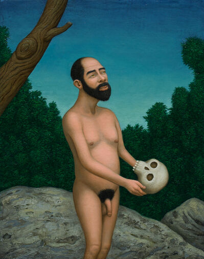 Seth Michael Forman, 'Man with Hominid Skull', 2018