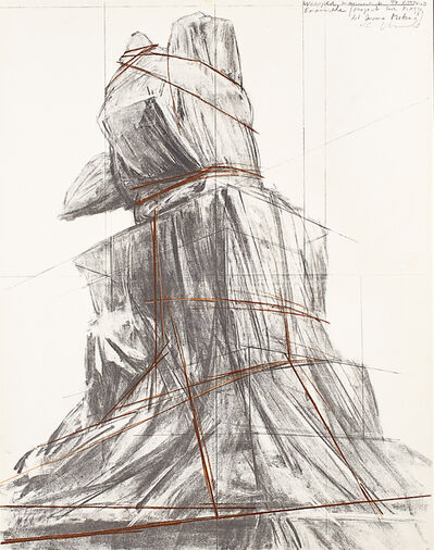 Christo, 'Wrapped Monument to Vittorio Emanuele, Project for Piazza del Duomo, Milan', 1975
