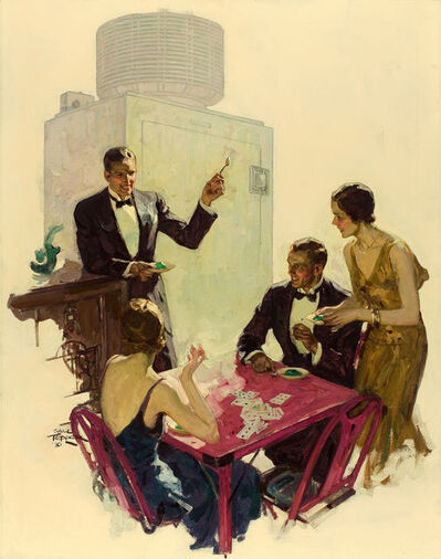 Saul Tepper, 'Now a 3, General Electric All-Steel Refrigerator Ad Illustration', 1930