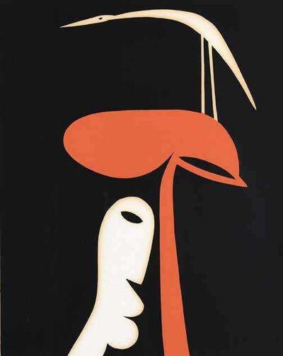 Walter Battiss, 'Birds and Faces', ca. 1960