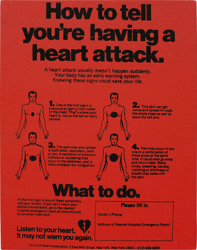 Andy Warhol, 'Valentine's Hearts Ads ( ... Having a Heart Attack)', ca. 1982-1983