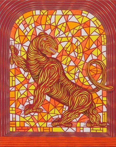 Andrew Schoultz, 'Noble Beast in Window', 2020
