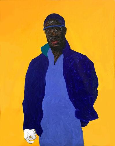 Amoako Boafo, 'Steve Mekoudja', 2019
