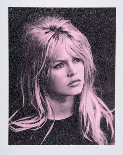 Russell Young, 'Bardot, Storm Pink & Black on Paper', 2017