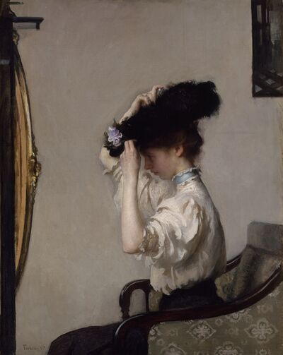 Edmund Charles Tarbell, 'Preparing for the Matinee', 1907