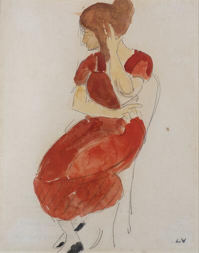 Louis Valtat, 'Jeune femme en rouge', ca. 1916