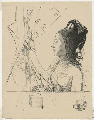 Odilon Redon, 'Planche d'Essai No. 1: Femme au Hennin', 1900