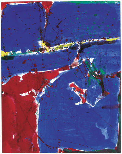 Sam Francis, 'Red and Blue', 1958/59
