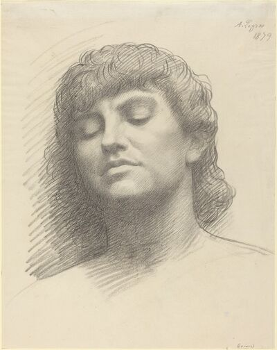 Alphonse Legros, 'Head', 1879