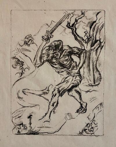 Jacob Steinhardt, 'Jakob Steinhardt Jewish German Expressionist Lithograph Israeli Early Bezalel ', 20th Century