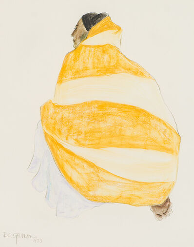 R.C. Gorman, 'Woman with Blanket', 1973