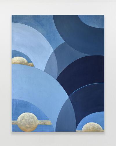 Kristine Moran, 'Mad Cap Swimmers - Blue #4', 2021