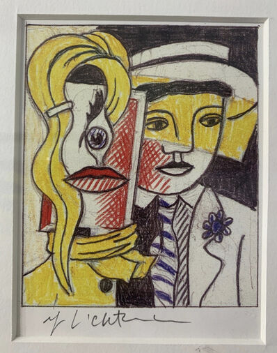Roy Lichtenstein, 'Stepping Out Sketch, Signed ', 1978