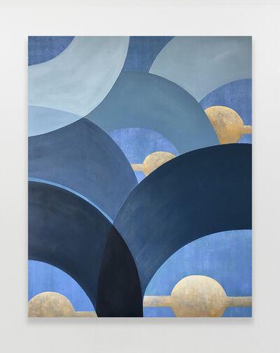 Kristine Moran, 'Mad Cap Swimmers - Blue #1', 2021