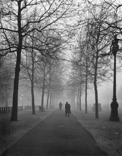 Evelyn Hofer, 'The mall foggy morning'