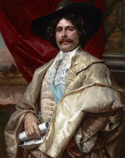 Cesare Auguste Detti, 'Portrait of a Cavalier', 19th Century