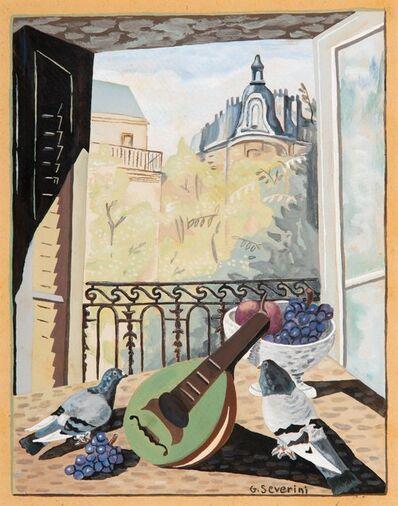 Gino Severini, 'Nature morte avec mandoline et deux colombes', circa 1930