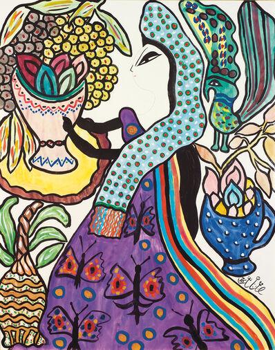 Baya, 'Femme a la coupe de fruits'
