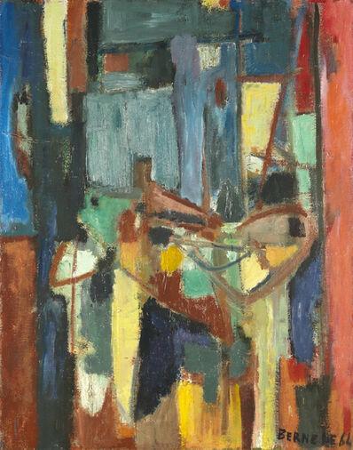Georges Bernede, 'C066 - Composition 64-2 - Nature Morte à la Chaise Bleue', 1964