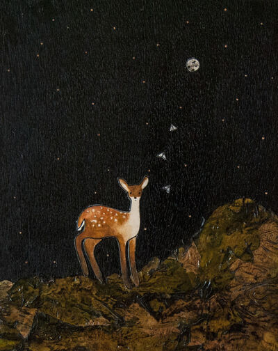 Ashley Anne Clark, 'Deer with Moths', 2018