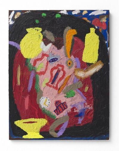 Shai Yehezkelli, 'Self Portrait Dancing Nude with Symbols', 2016