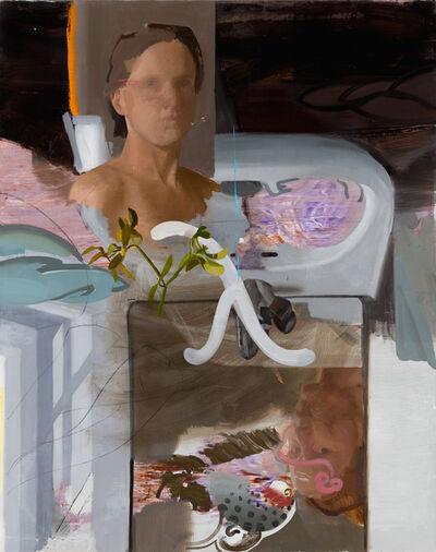 Patrícia Kaliczka, 'Self-Portrait with Lambda and Mistletoe --- Önarckép lambdával és fagyönggyel ', 2019