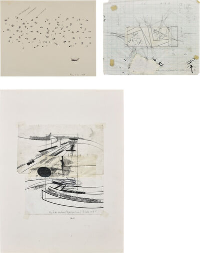 Barry Le Va, 'Three works: (i) Particles; (ii) Corner Sections (Separately Projected); (iii) Partition Sections (3 Perspectives)'