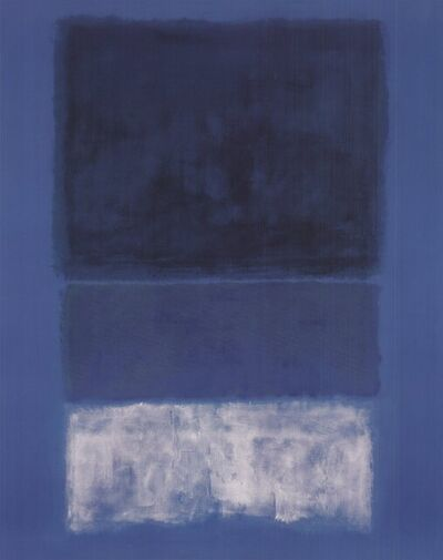 Mark Rothko, 'No 14 White and Greens in Blue (No Text)', 1998