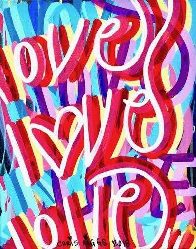 CHRIS RIGGS, 'Love Canvas 8', 2018