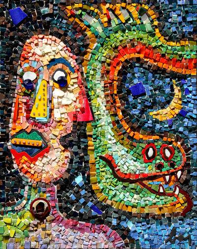 Enrico Baj, 'L'addomesticatore di serpenti', 1998