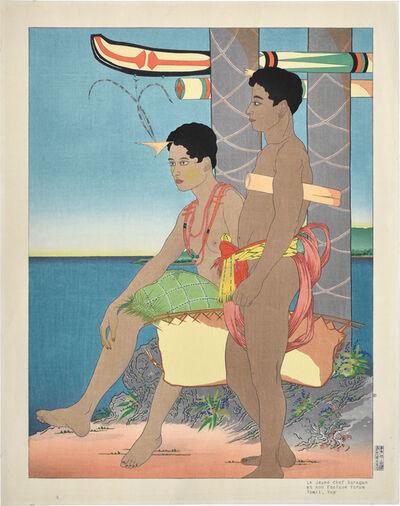 Paul Jacoulet, 'Le Jeune Chef Saragan et son Esclave forum Tomil, Yap', ca. 1949