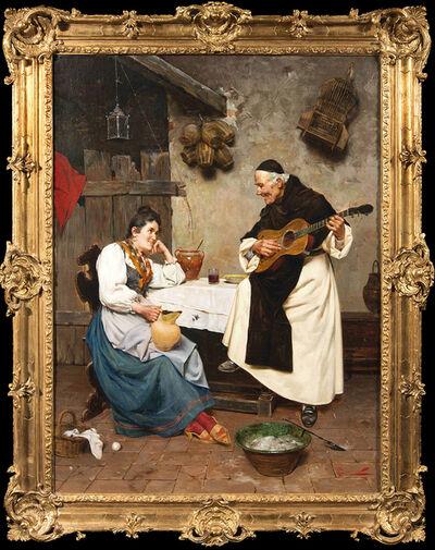 Pietro Torrini, 'The Monk's Serenade', 19th Century