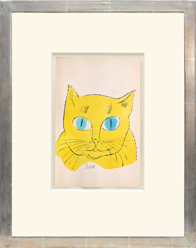 Andy Warhol, 'Sam. [Portrait of yellow cat with turquoise eyes.]', 1954