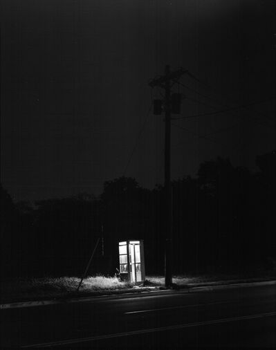 George Tice, 'Phone Booth, 3 A.M., Rahway, NJ', 1974