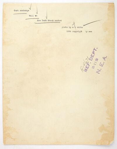 Margaret Bourke-White, 'Curb Exchange, Wall St, New York Stock Market', 1936