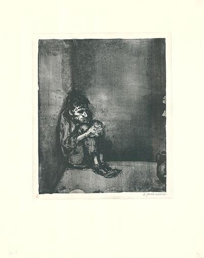 A. (Andreas) Paul Weber, 'Der Gefangene (Der Blechnapf)', 1964