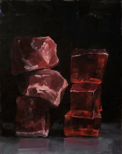 Tom Giesler, 'Cubed: beef and jello', 2019