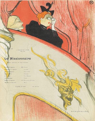 Henri de Toulouse-Lautrec, 'La Loge au Mascaron Doré / Le Missionnaire', 1894