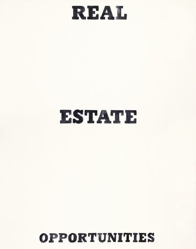 Amy Park, 'Real Estate Opportunities Print based on Ed Ruscha Book Covers', 2018