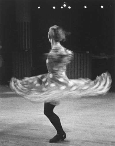 Ilse Bing, 'Can Can Dancer, Moulin Rouge, Paris [Spinning Dancer].', 1983
