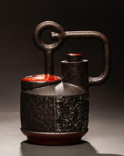 Maja Padrov, 'Small red and black pot', 2018