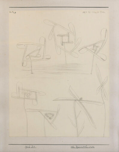 "Paul Klee, '""sieben Blüten"" Pencil on paper on cardboard, signed, dated and titled 1926', 1926"