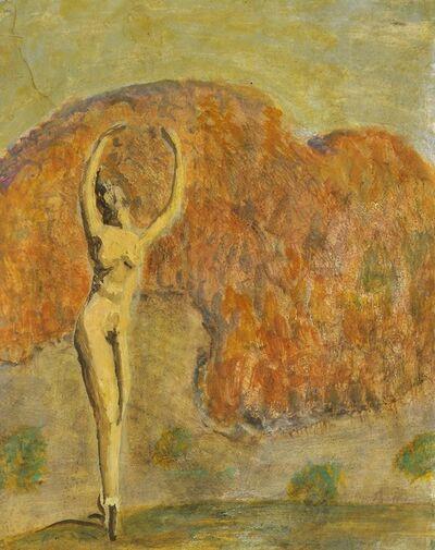 Alfons Walde, 'Nude in Autumn Landscape', ca. 1920
