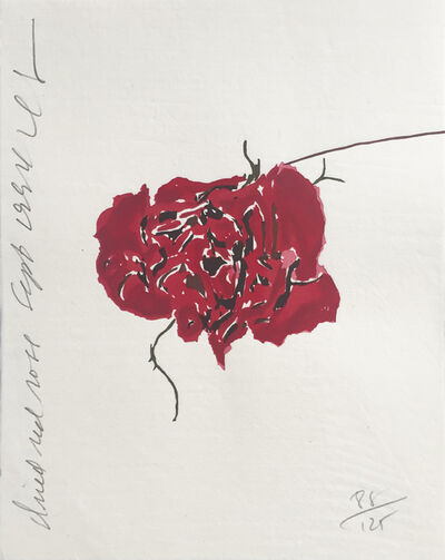 Donald Sultan, 'Dried Red Rose ', 1994