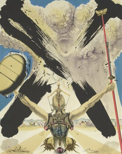 Salvador Dalí, 'Don Quixote. Le Combat contre le Danger - The Fight with Danger', 1957