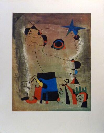 Joan Miró, 'Le chien bleu ', 1958