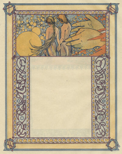 "Alphonse Mucha, 'From Ilsee, Princess of Tripoli Recto: ""Last Kiss"" Verso: ""Union""', 1897"